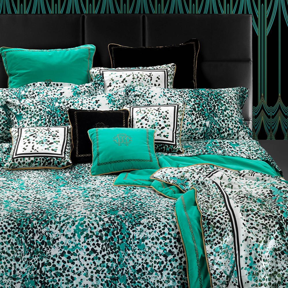 buy roberto cavalli scamuskin duvet set super king teal amara. Black Bedroom Furniture Sets. Home Design Ideas
