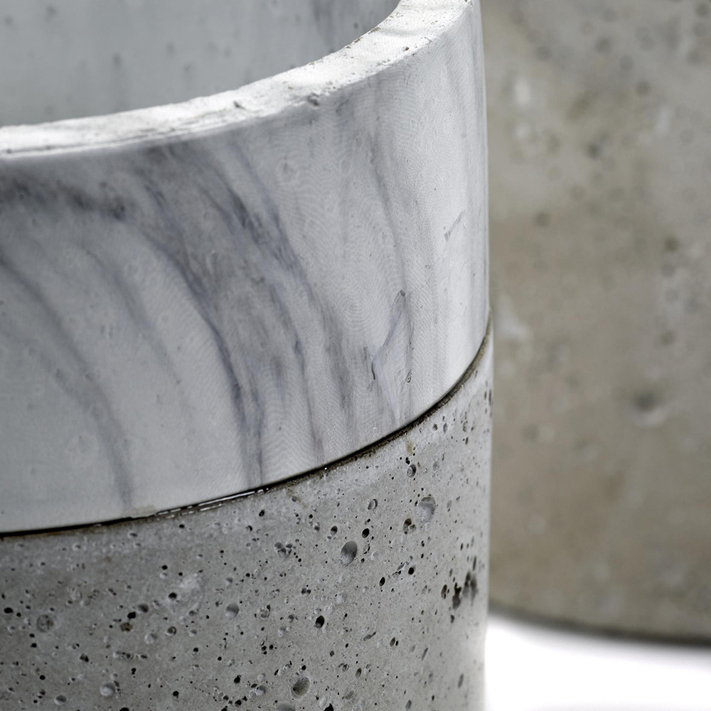how to make concrete marble pots