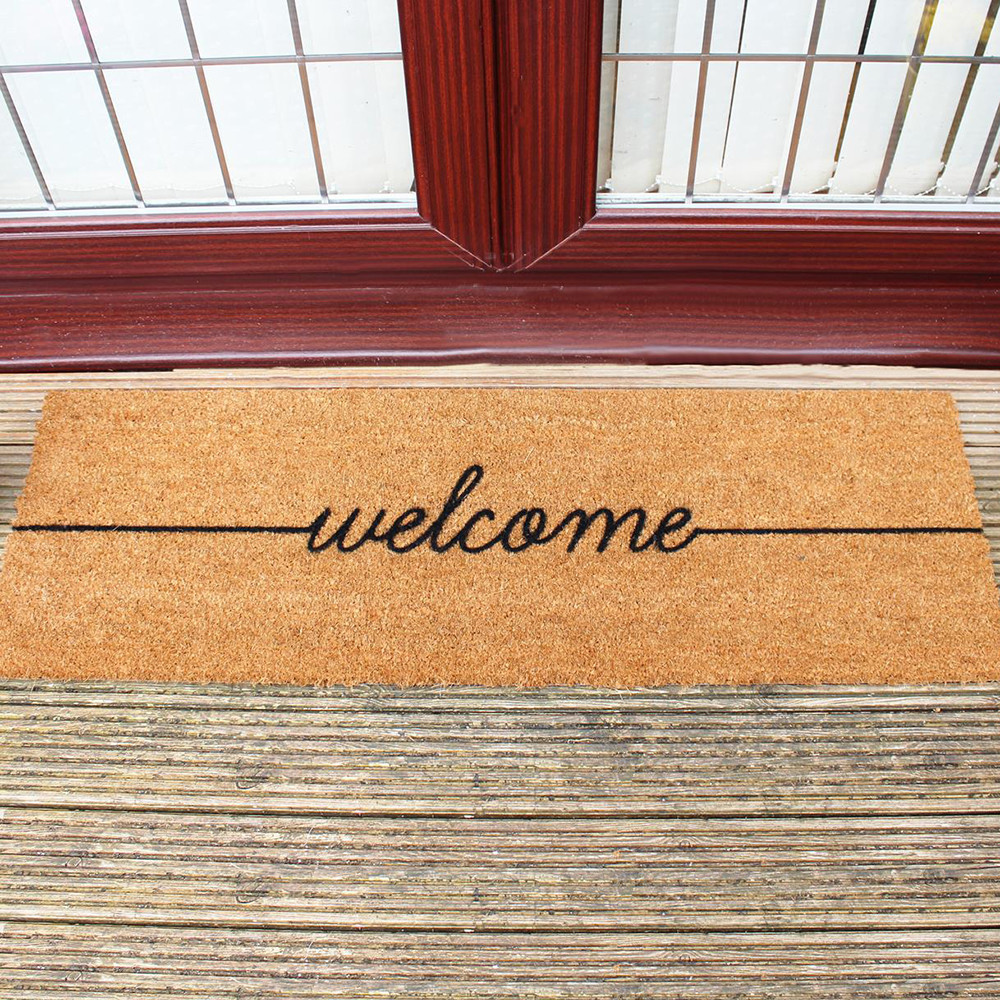 buy artsy doormats welcome patio door mat amara. Black Bedroom Furniture Sets. Home Design Ideas