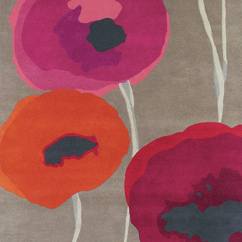 Tapis Poppies Rouge/Orange