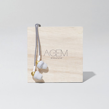 aGem In-Ear Headphones - White