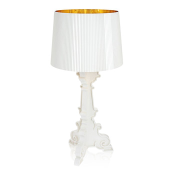 Bourgie Lamp - White/Gold