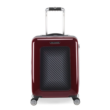 Burgundy Graphite Suitcase