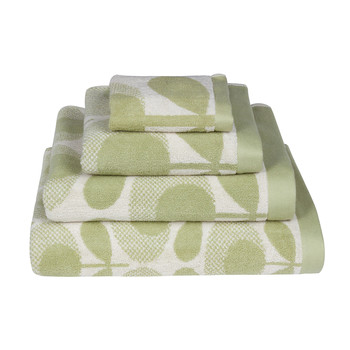 Speckled Flower Oval Towel - Pistachio