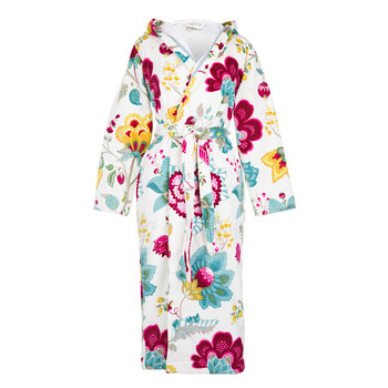 Floral Fantasy Star White Bathrobe
