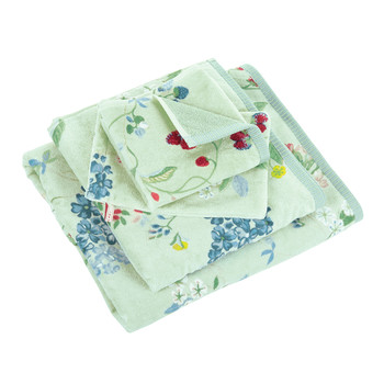 Hummingbirds Green Towel