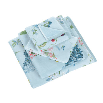 Hummingbirds Blue Towel