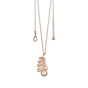 Buddy Long Line Stem Pendant - Rose Gold