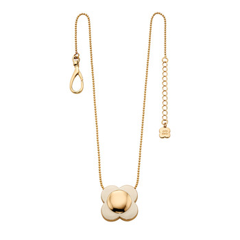 Daisy Chain Flower Pendant - Cream