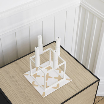 Kubus 4 Candle Holder - White