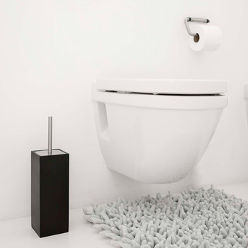Moon Toilet Brush Holder - Black