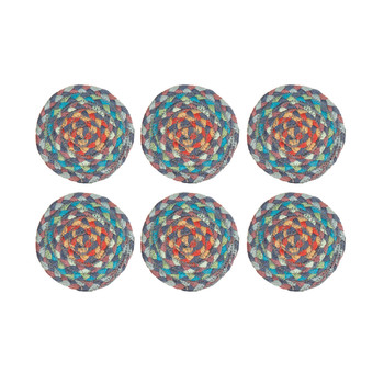 Coasters Set of 6 - Carnival Blue