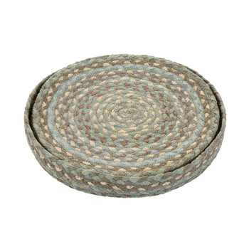 Rope Round Placemats - Set of 6 - Seaspray