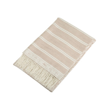 Ogilvie Fringed Throw - 800 Beige