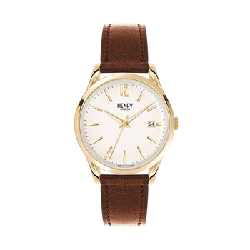 Westminster Brown Leather Strap Watch with White Face