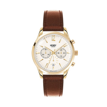 Westminster Leather Strap Watch with Trio Dial - Brown