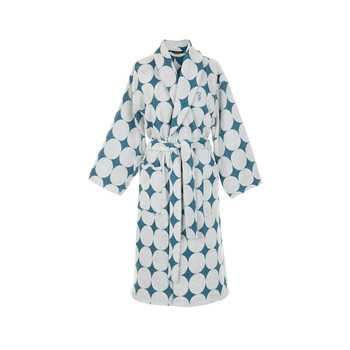 Fregio Shawl Bathrobe - Cobalto