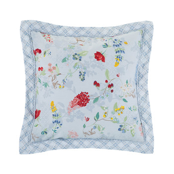 Hummingbirds Blue Pillow