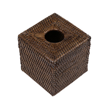 Square Tissue Box - Teak