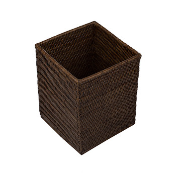 Square Trash Can - Teak
