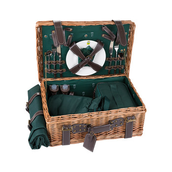 Champs Elysees Picnic Basket - Green