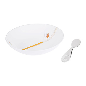 Beebee Cereal Bowl & Baby Spoon Set
