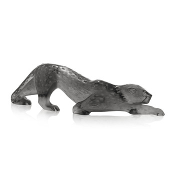 Zeila Panther Sculpture - Gray - Large