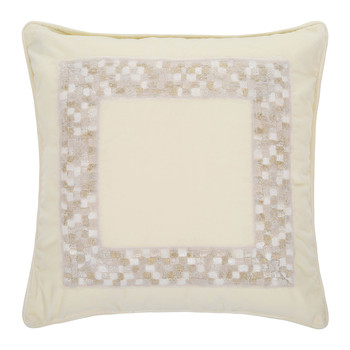 Mosaico Velvet Bed Pillow - 40x40cm - Gold