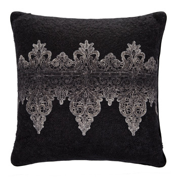 Tiziano Mohair Bed Pillow - 60x60cm - Black