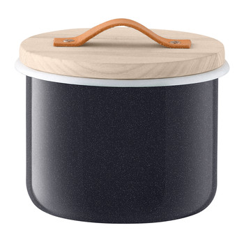 Utility Container & Ash Lid - Pepper Black