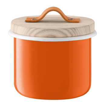 Utility Container & Ash Lid - Pumpkin Orange - 14cm
