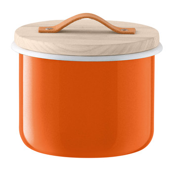 Utility Container & Ash Lid - Pumpkin Orange