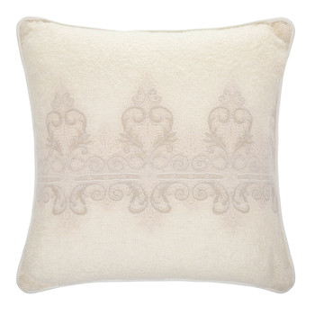 Tiziano Mohair Bed Cushion - 60x60cm - Ivory