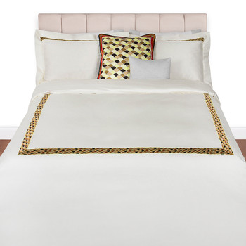 Lido Duvet Set - Super King - Orange/Brown