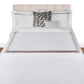 Lido Duvet Set - Super King - Pink/Grey