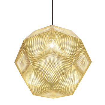 Etch Pendant Light - Brass