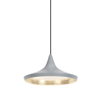 Beat Pendant Light - Wide - Grey/Silver