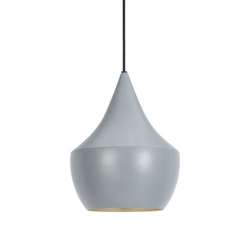 Beat Pendant Light - Fat - Grey/Silver