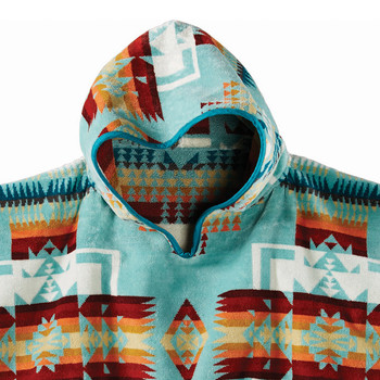 Chief Joseph Hooded Children's Towel - Aqua