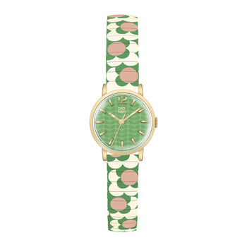 Flower Pop Watch - Green/Pink