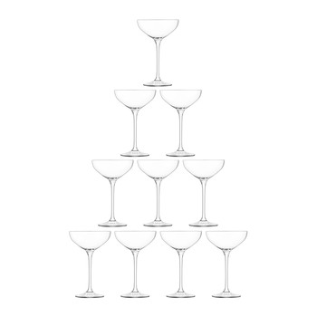 Tower Champagne Set - 10 Piece - Clear