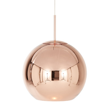 Copper Round Pendant Light