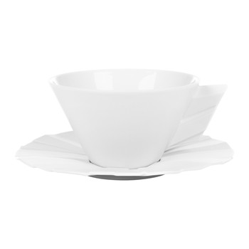 Matrix White Teacup & Saucer