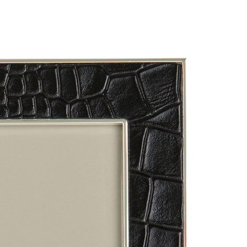 Black Faux Croc Photo Frame
