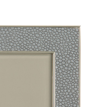 Gray Faux Shagreen Photo Frame