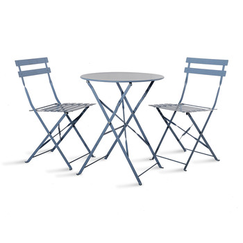 Rive Droite Bistro Table & Chairs Set - Dorset Blue