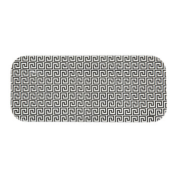 Greca Tray - 25x60cm - Black/White