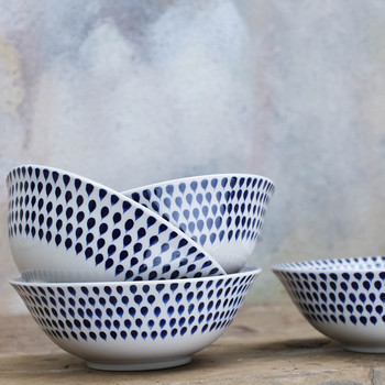 Indigo Drop Cereal Bowl