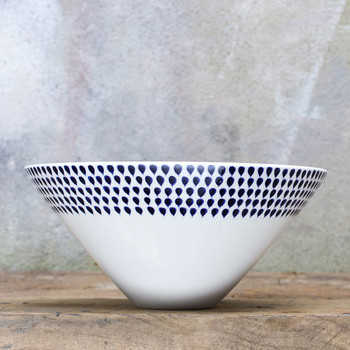 Indigo Drop Serving Bowl - Small