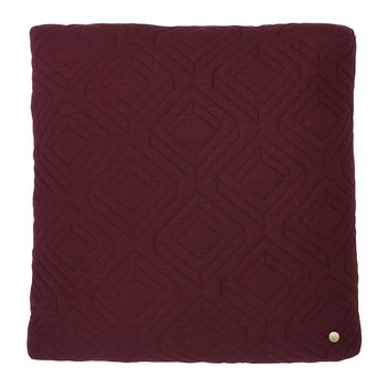 Quilted Pillow - 45x45cm - Bordeaux